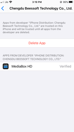 Install MediaBox HD on iPhone