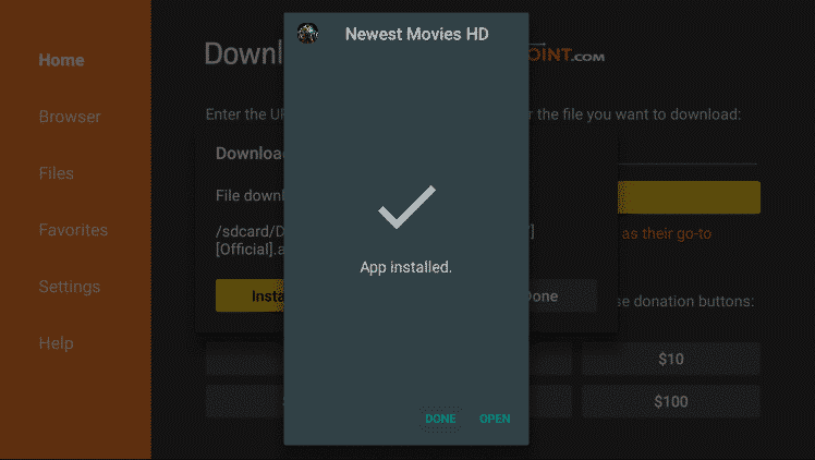 Install Newest Movies HD on Firestick