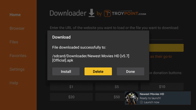 Install Newest Movies HD APK on Firestick