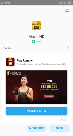 Install Movie HD APK on Android Smartphones